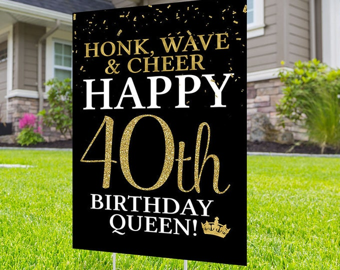 Happy birthday yard sign design, Digital file only, Honk outdoor sign, Quarantine Birthday, Birthday lawn Sign, Happy Birthday Sign