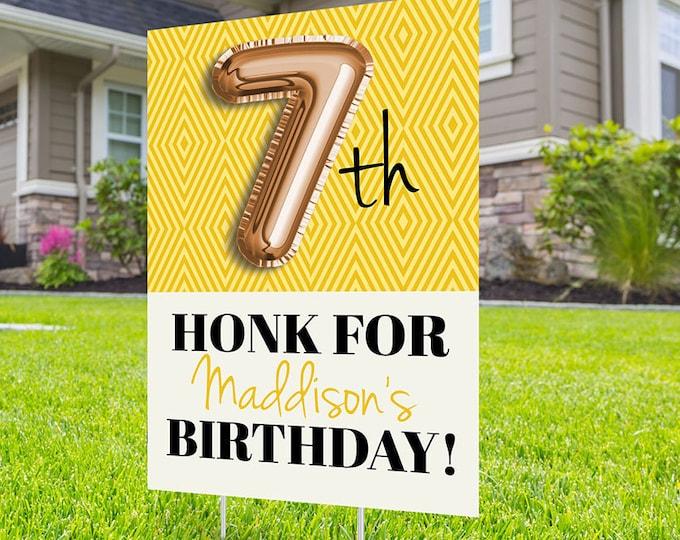 Any Age, Drive by birthday parade, Digital file only, yard sign, drive-by birthday party, car birthday parade, quarantine party