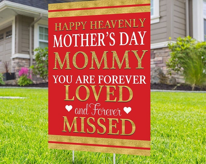 Yard sign, Funeral sign design, Digital file only, Father's Day, Mother's Day, in memory of sign, Memorial birthday sign