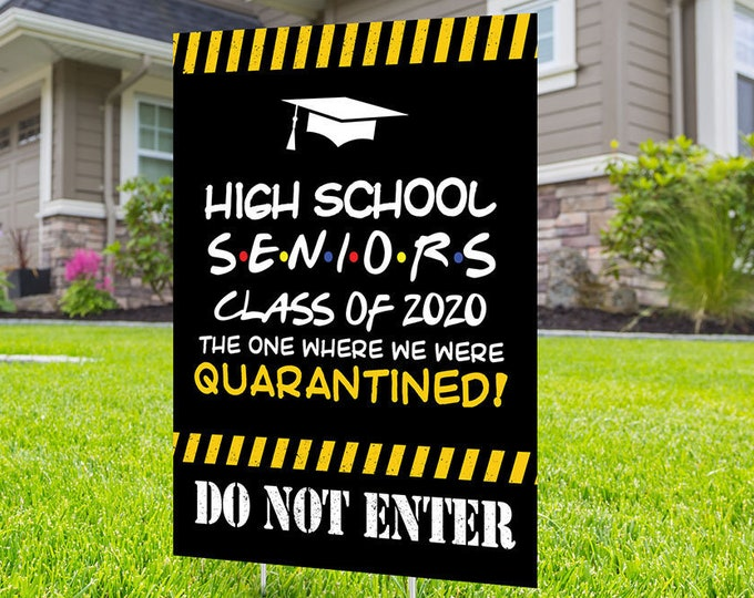 Class of 2021 Graduation, Digital file only, Photo Yard Sign design,High School Senior, Welcome Sign Congrats, Graduation lawn sign