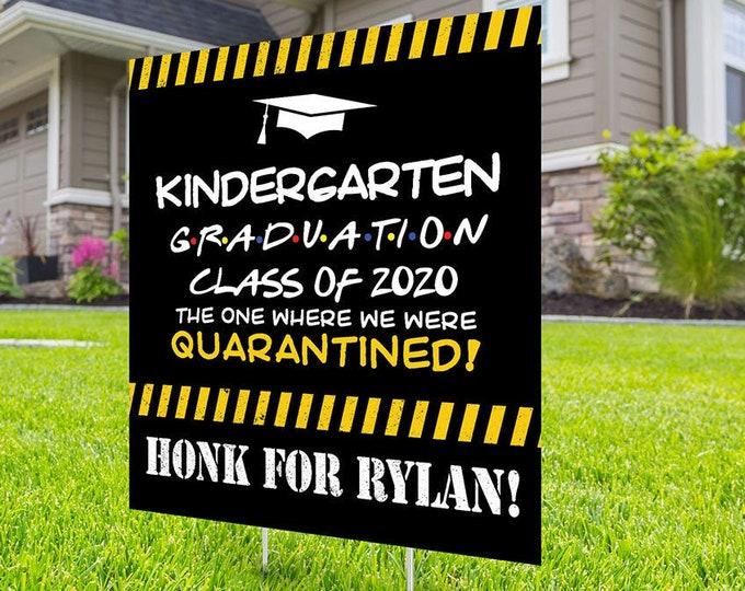 Class of 2020 Graduation Photo Yard Sign - Kindergarten graduation Sign, Digital file only,  Quarantine yard sign, Graduation Yard Sign