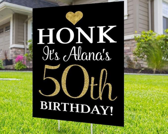Happy birthday yard sign design, Digital file only, Honk outdoor sign, Quarantine Birthday, Birthday Yard Sign, Happy Birthday Sign
