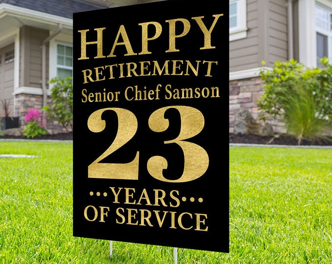 Air Force, Navy, Army, Marine, Digital file only, Retirement yard sign design,  yard sign, retirement party gift, retirement party,