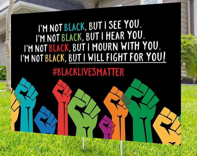Black lives matter yard sign design, Digital file only, No Hate sign, Black rights, human rights, Kindness sign, Black lives matter, Poster