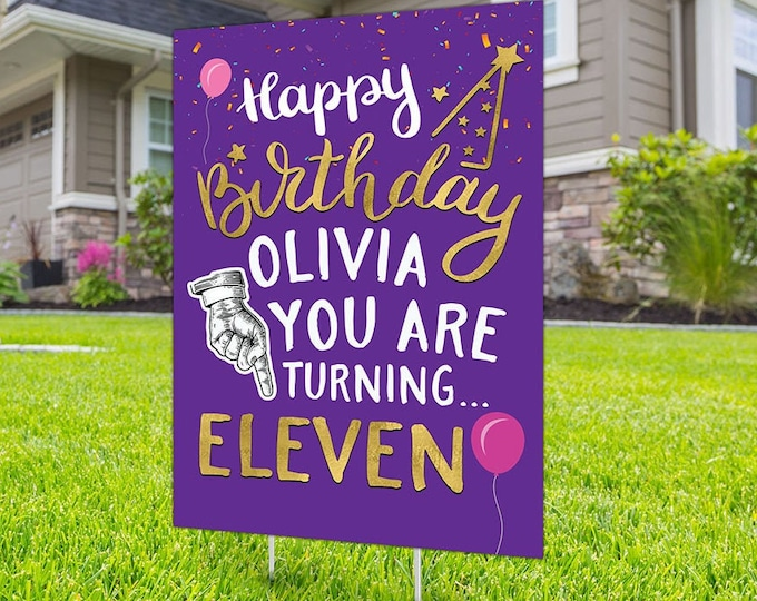 Any age, birthday yard sign design, Digital file only, social distancing drive-by birthday party, car birthday parade quarantine party
