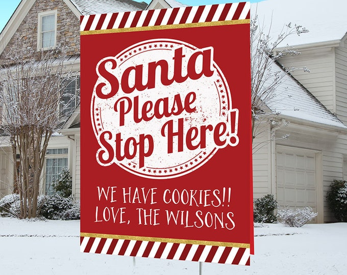 Christmas lawn sign design, Digital file only, Christmas yard sign, Party Lawn Decorations, outdoor decorations, Holiday outdoor decor