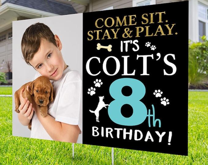 Happy birthday Yard Sign design, Digital file only, Honk outdoor sign, Pet Birthday, Dog Birthday Yard Sign, Happy Birthday Sign, Dog party