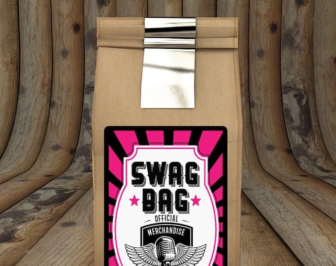 Party favor tag, Rock Star birthday, Swag bag, favor, boy birthday, personalized label, rock star party, rock star birthday, rock star,