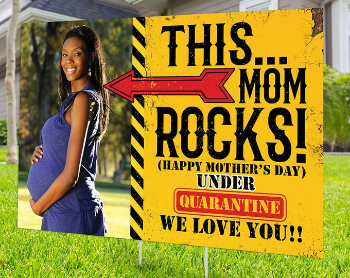 Happy Mother's Day Yard Sign,  Digital file only, Honk outdoor sign, Quarantine , Birthday Yard Sign, Mother's Day yard sign, Father's Day