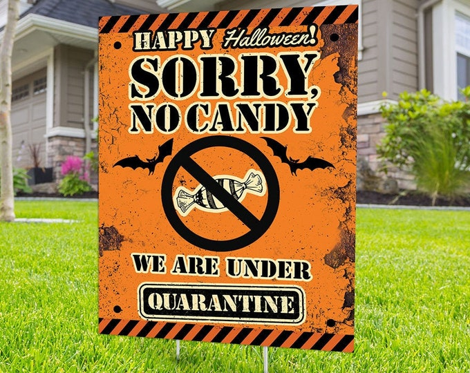 Halloween yard sign design, digital file only, Happy Halloween sign, Party Lawn Decorations, Trick or treat, Halloween sign, no candy sign