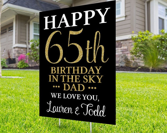 Any age,Yard sign, Funeral sign design, Digital file only, memorial sign, happy heavenly birthday, in memory of sign, Memorial birthday sign