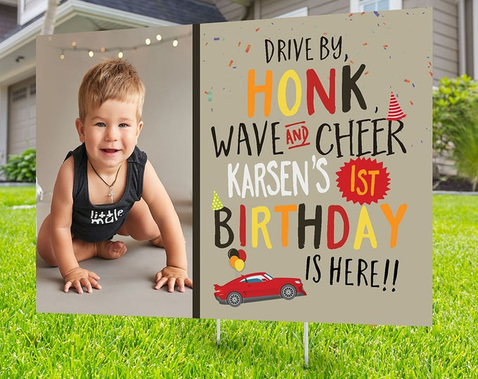 Girl drive by birthday parade, Digital file only, yard sign, social distancing drive-by birthday party, car birthday parade quarantine party