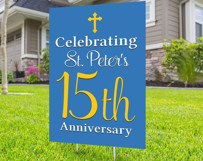 Anniversary Yard Sign, Digital file only, Honk outdoor sign, Church sign , Anniversary Yard Sign, Church Anniversary