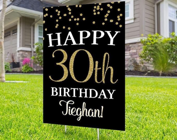 Any Age, Happy birthday Yard Sign design, Digital file only, Honk sign, Quarantine Birthday , Birthday Yard Sign, Happy Birthday Sign