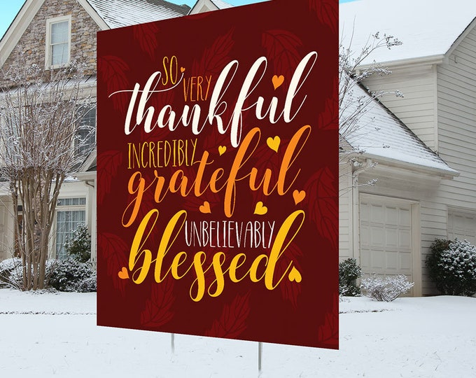 Thanksgiving yard sign design, digital file only, Happy Thanksgiving sign, Party Lawn Decorations, Holiday, Thanksgiving outdoor decoration