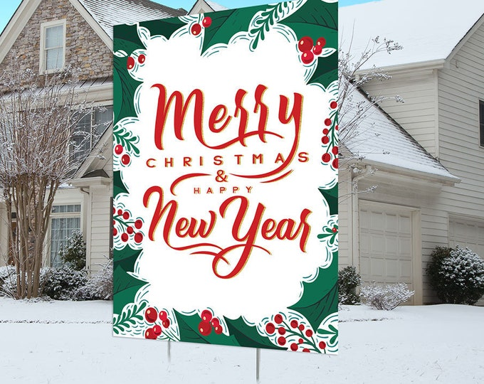 Christmas lawn sign design, Digital file only, Christmas yard sign, Party Lawn Decorations, outdoor decorations, Holiday outdoor decor,