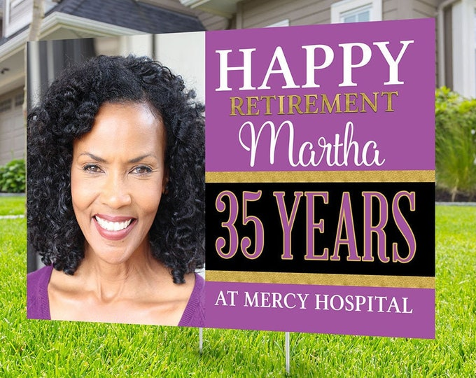 Retirement yard sign design, Digital file only, yard sign, retirement party gift, quarantine party, retirement party, sign