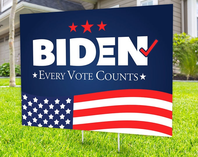 Biden, Political Campaign Yard Sign design, Digital file only, rally sign, democrat, political sign, 2020 president, political lawn sign