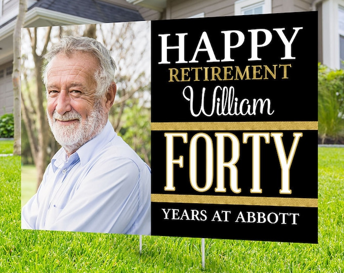 Retirement yard sign design, Digital file only, yard sign, retirement party gift, quarantine party, retirement party, sign
