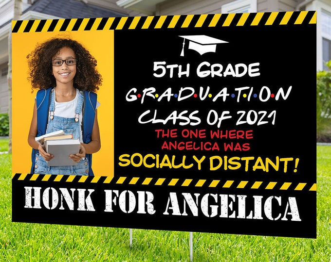 Class of 2021 Graduation, Digital file only , High School graduation, 8th grade graduation, 5th grade Graduation lawn sign