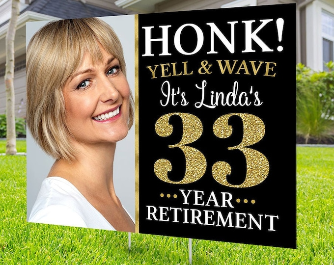 Retirement lawn sign design, Digital file only, yard sign, retirement party gift, quarantine party, retirement party, sign