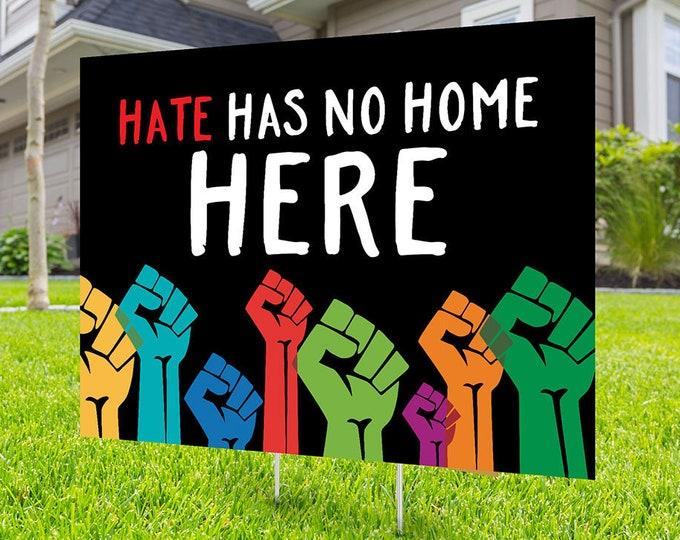 Black lives matter yard sign design, Digital file only, No Hate sign, Black rights, human rights, Love thy neighbor, Black lives matter, BLM