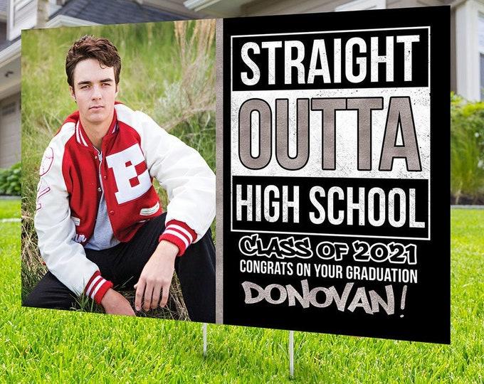 Class of 2021 Graduation, Digital file only, Photo Yard Sign design,High School Senior, 8th grade graduation, Graduation lawn sign