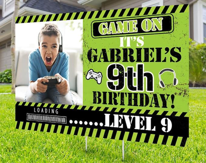 Happy birthday Yard Sign design, Digital file only, video game lawn sign, Quarantine Birthday , Birthday Yard Sign, Yard sign