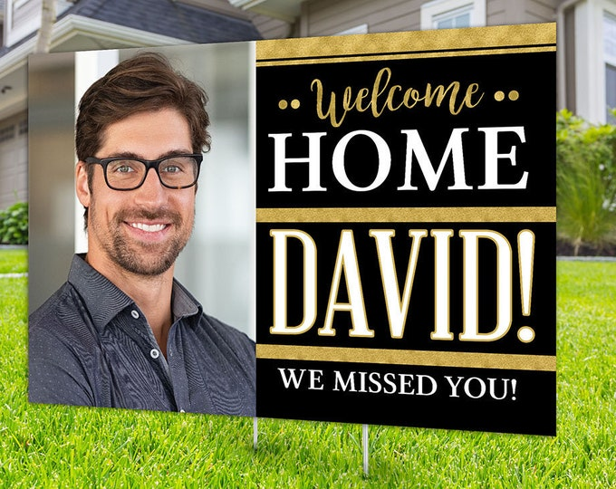 Welcome home yard sign design, Digital file only,  Air Force, Navy, Army, Marine, gift, Retirement party, going away party, welcome home