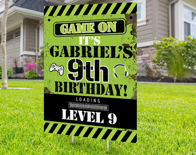 Happy birthday Yard Sign design, Digital file only, video game lawn sign, Quarantine Birthday , Birthday Yard Sign, Yard sign