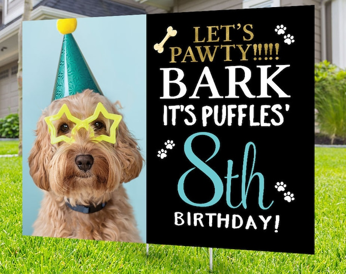 Happy birthday Yard Sign design, Digital file only, Honk outdoor sign, Pet Birthday, Dog Birthday Yard Sign, Happy Birthday Sign, Dog party