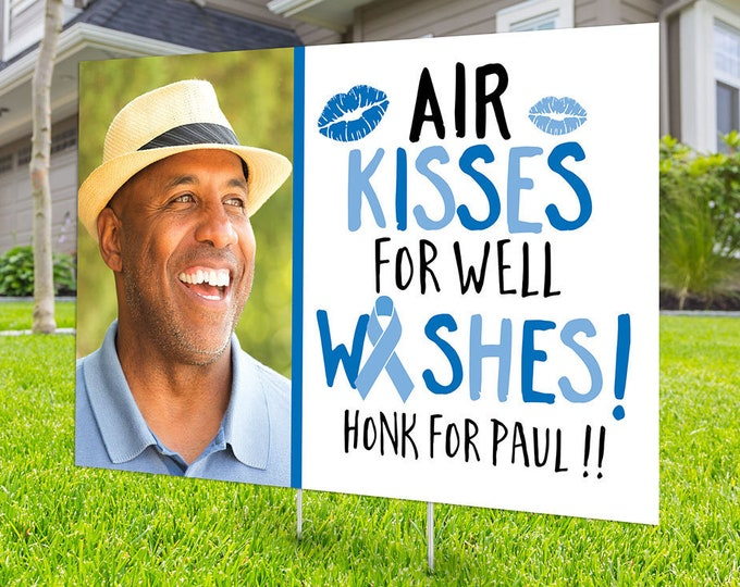 Well wishes sign, Cancer survivor, Digital file only, yard sign, car parade, quarantine party, Cancer survivor, Get well yard sign
