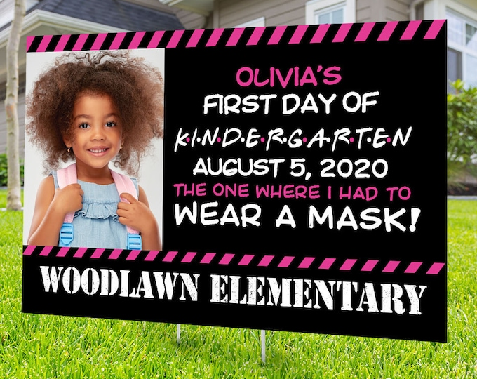 First day of school Yard Sign design, Digital file only, Honk outdoor sign, Quarantine party , back to school Photo prop sign,