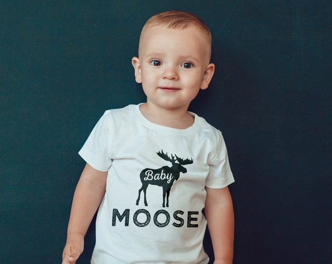 Digital files only • Birthday T-shirt, little Moose, lumberjack, birthday shirt, first birthday shirt, family shirts