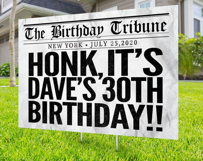 Happy birthday Yard Sign, Digital file only, Honk outdoor sign, Quarantine Birthday , , Birthday Yard Sign, Happy Birthday Sign, Yard sign