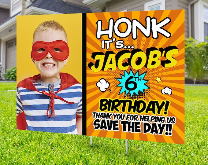 Happy birthday Yard Sign , Digital file only, Honk outdoor sign , Quarantine Birthday , Birthday Yard Sign, Happy Birthday Sign, Yard sign