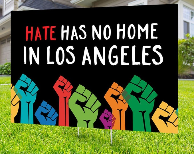 Black lives matter yard sign design, Digital file only, No Hate sign, Black rights, human rights, Love thy neighbor, Black lives matter,