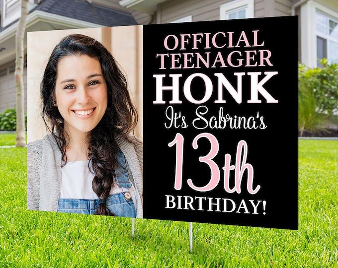 Happy birthday Yard Sign,  Digital file only, Honk outdoor sign, Quarantine Birthday, Birthday Yard Sign, Happy Birthday Sign, Yard sign