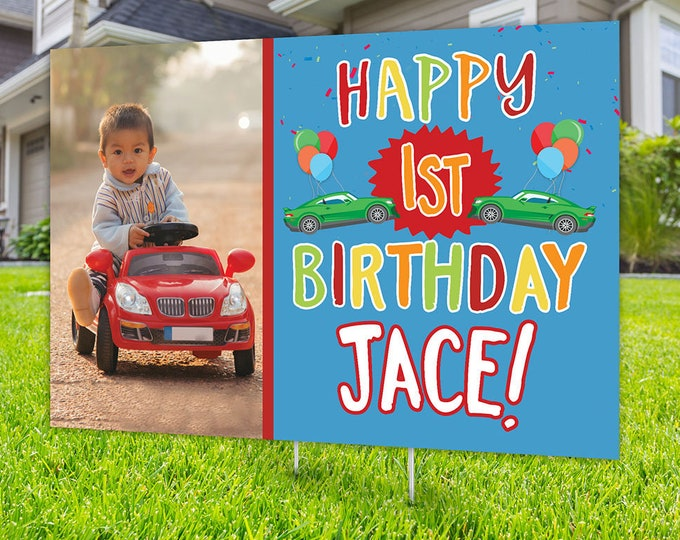 Car birthday parade, Digital file only, lawn sign, social distancing drive-by birthday party, car birthday parade quarantine party