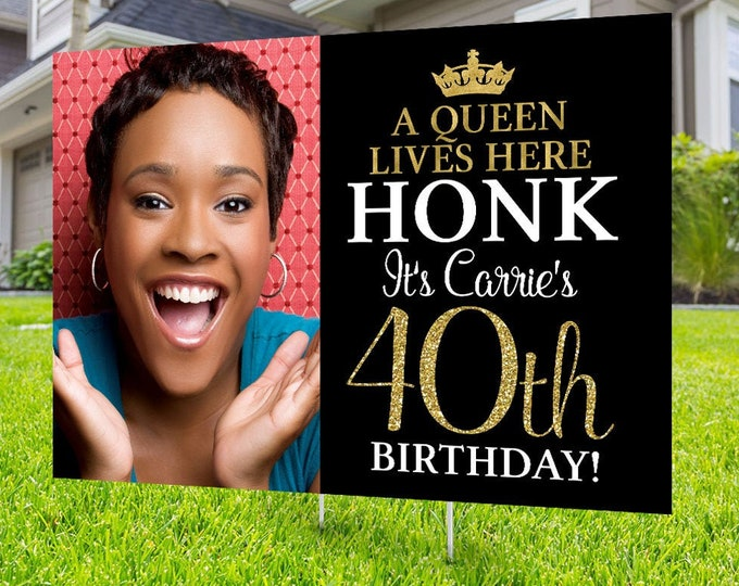 Happy birthday Yard Sign design, Digital file only, Honk outdoor sign, Quarantine Birthday , Yard Sign, Happy Birthday Sign, Yard sign