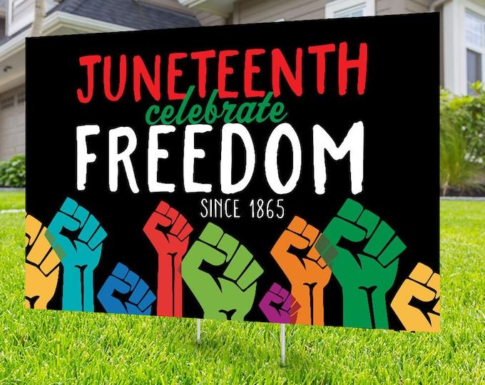 Juneteenth, Black lives matter yard sign design, Digital file only, No Hate sign, Black rights, Love thy neighbor, Black lives matter,