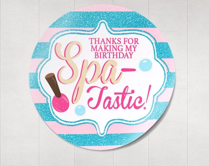 Spa favor tags, Spa party invitation, VIP PASS, backstage pass, Vip invitation, birthday invitation, lanyard,  nail polish, Spa-tastic