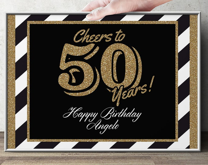 Any age Birthday party table signs ( Digital file only) , aged to perfection,  Cheers and beers, decorations, milestone birthday signs