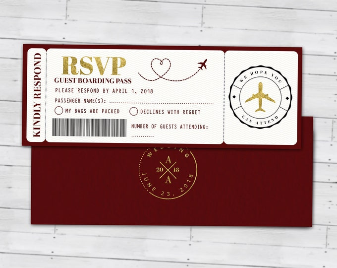 Wedding passport invitation, couples shower, wedding shower, travel, travel party, wedding invitation, save the date, Digital files only