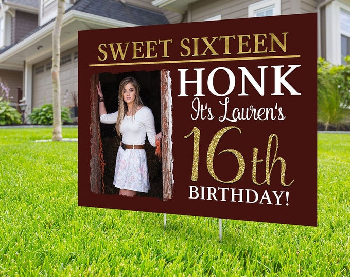 Happy birthday yard sign design, Digital file only, Honk outdoor sign, Quarantine Birthday, Birthday Yard Sign, Happy Birthday Sign