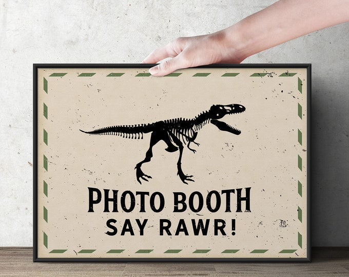 Dinosaur Dig Party signs, Dinosaur Birthday table  sign, Dino sign, Dino Skeleton and Bones - Archaeologist, Fossil, paleontologist, dino