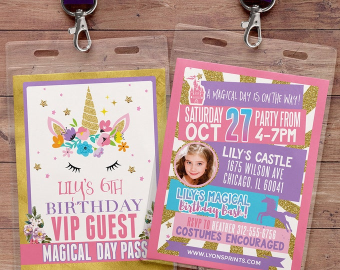 RAINBOW UNICORN Birthday Invitation, Rainbow Unicorn Invitation, Unicorn Invitations, Unicorn and Rainbow Invitation, Fairy