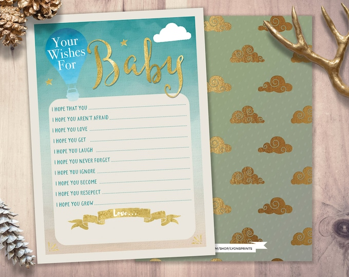 Wishes for baby, Baby Shower printable, shower game, coed baby shower, precious cargo, coed baby shower, travel shower theme