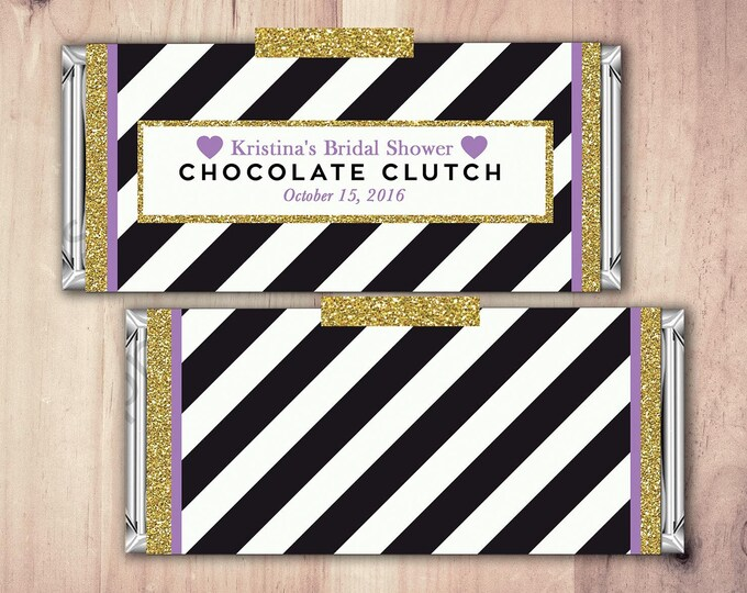 Wedding Candy Bar Wrapper Covers, Birthday Chocolate Bar Birthday Candy Wrappers - Spade- 40th, 21st, 30th, bridal shower, favor