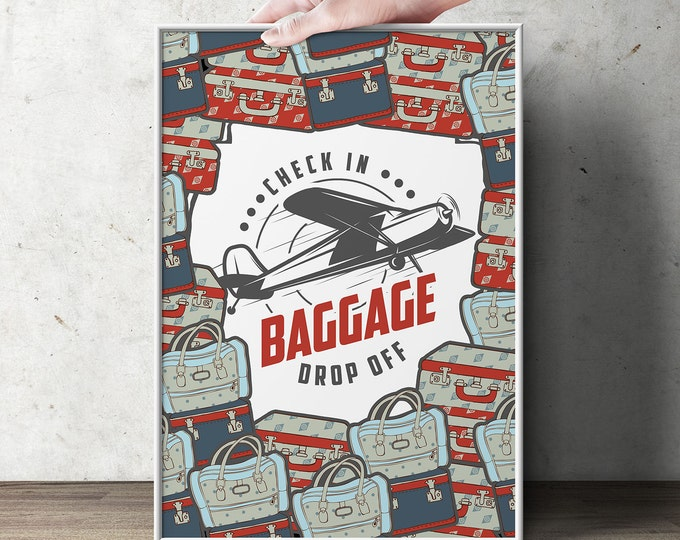 Precious Cargo, table signs, Oh The Places You Will Go Baby Shower Invitation • Dr. Seuss Baby Shower, vintage airplane, luggage tag